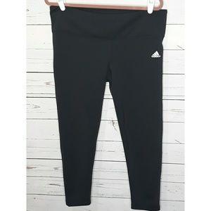 Adidas Climalite | Black Fitness Legging Capris